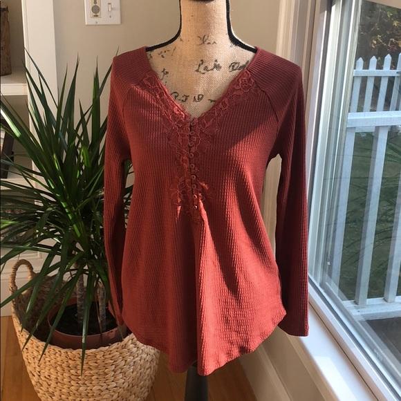 torrid Tops - Torrid waffle knit long sleeve shirt. Size 00